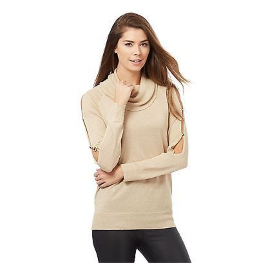 Principles By Ben De Lisi Womens Gold Sparkling Cowl Neck Top From Debenhams
