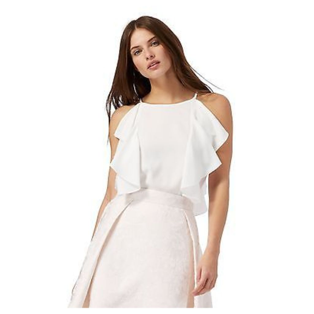 Debut Womens Ivory Ruffle Top From Debenhams