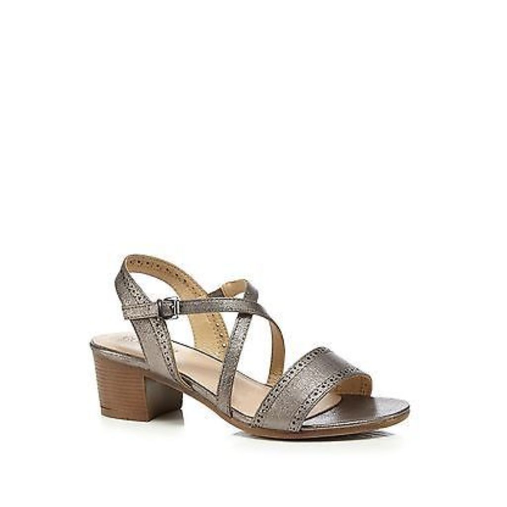 Good For The Sole Womens Silver Wide Fit Mid Sandals From Debenhams