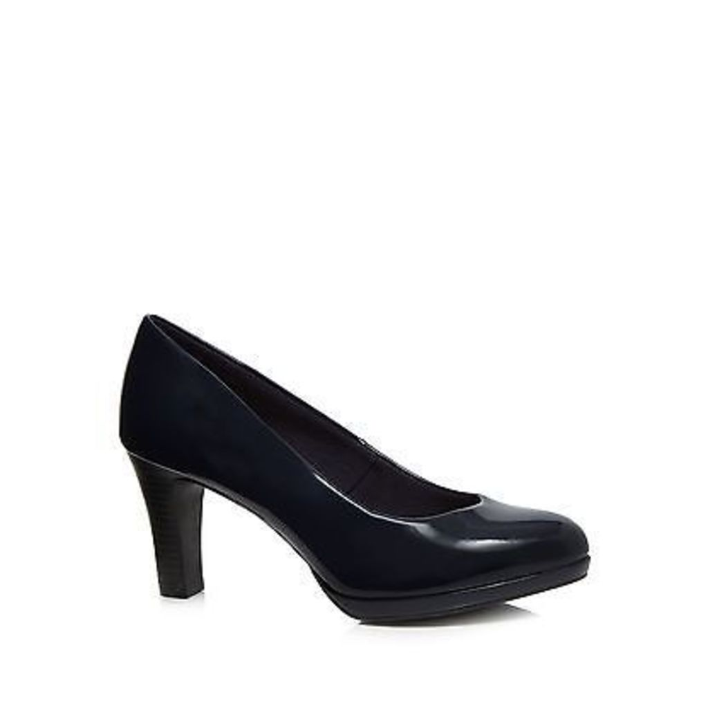 Good For The Sole Womens Navy Patent High Wide Fit Court Shoes From Debenhams