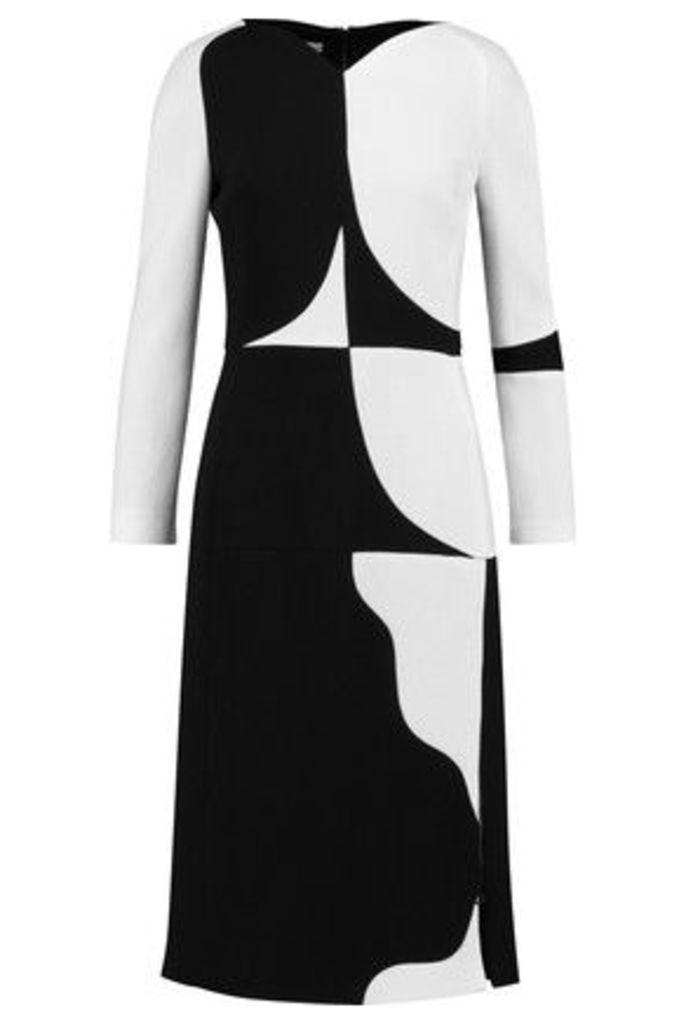 Antonio Berardi - Two-tone Wool-crepe Dress - Black