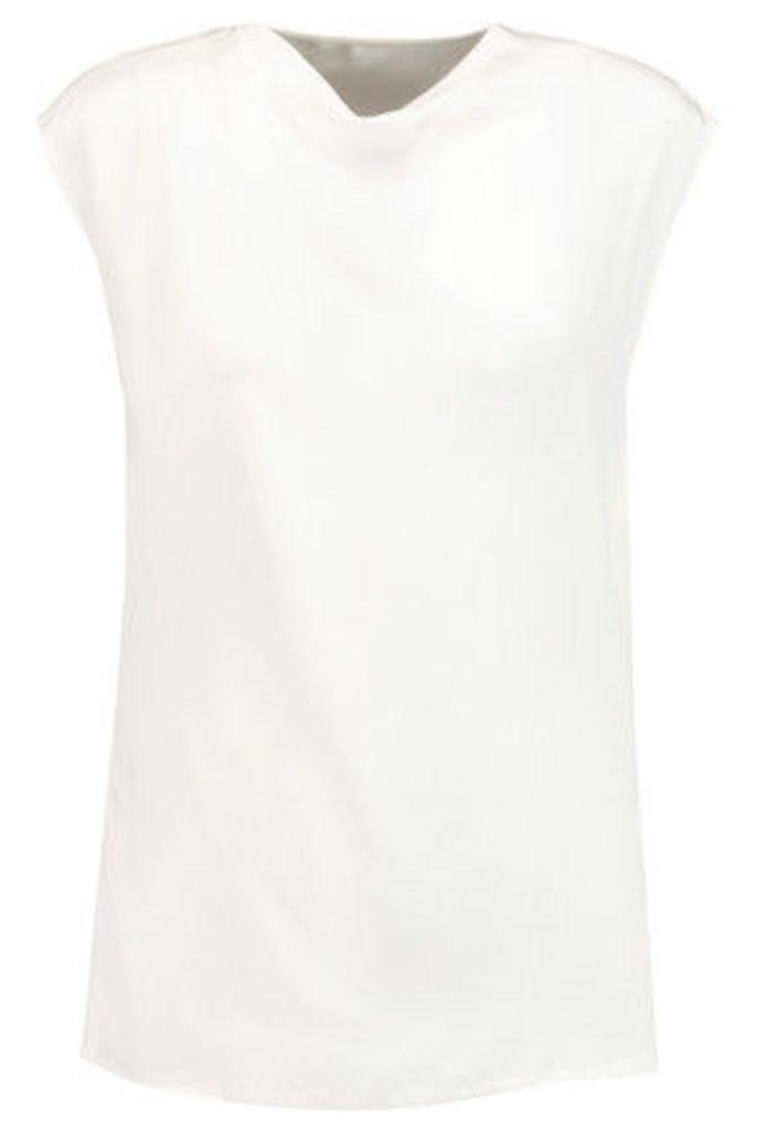 3.1 Phillip Lim - Draped Silk Top - White