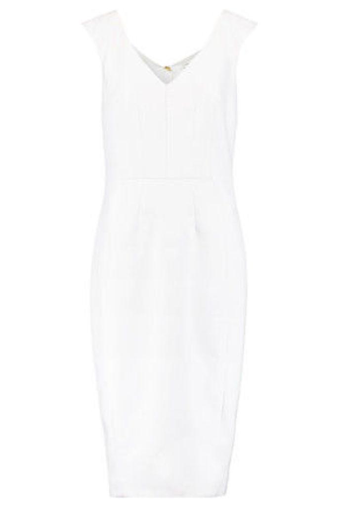 Amanda Wakeley - Stitched Twill Midi Dress - White