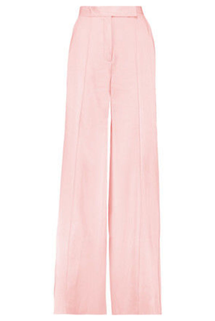 Amanda Wakeley - Satin Wide-leg Pants - Baby pink