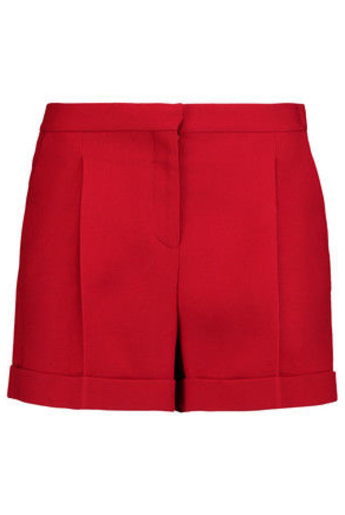 Valentino - Wool And Silk-blend Crepe Shorts - Red
