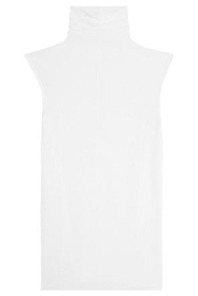 ENZA COSTA - Ribbed-knit Turtleneck Top - White
