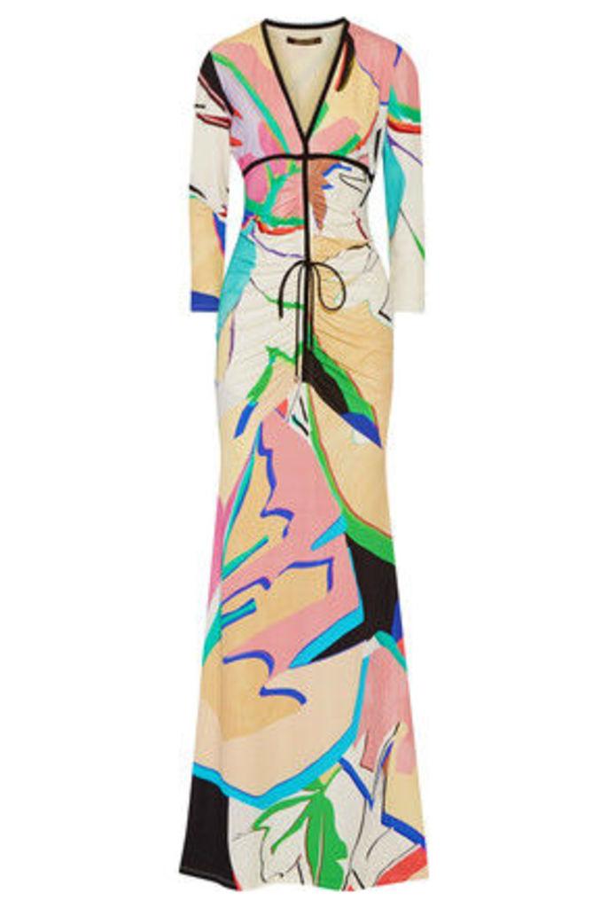Roberto Cavalli - Printed Stretch-jersey Gown - Multi