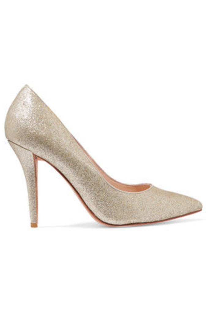 Lucy Choi London - Adelite Glittered-leather Pumps - Gold