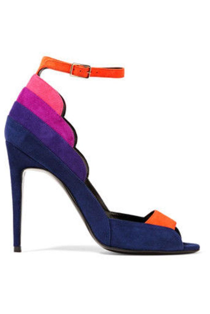 Pierre Hardy - Roxy Color-block Suede Sandals - Multi