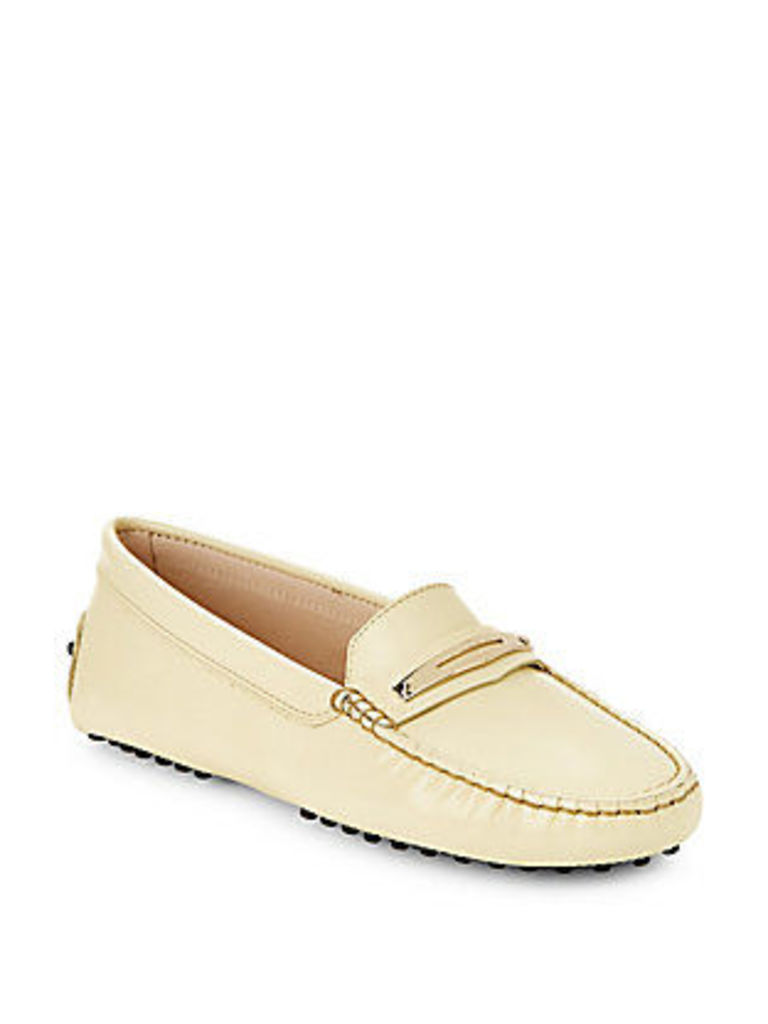 Leather Moc-Toe Penny Loafers