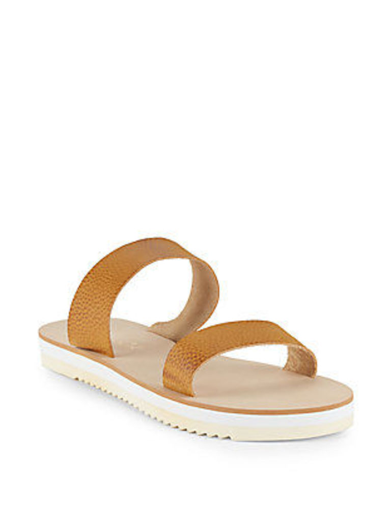 Jina Leather Open-Toe Slip-On Sandals