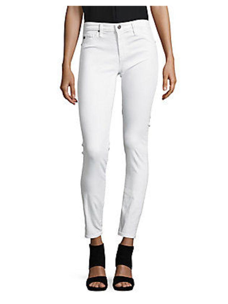 Cotton-Blend Solid Jeans