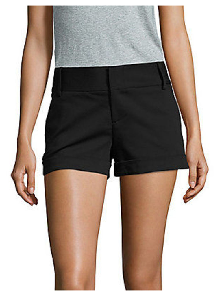 Cady Solid Cotton-Blend Shorts