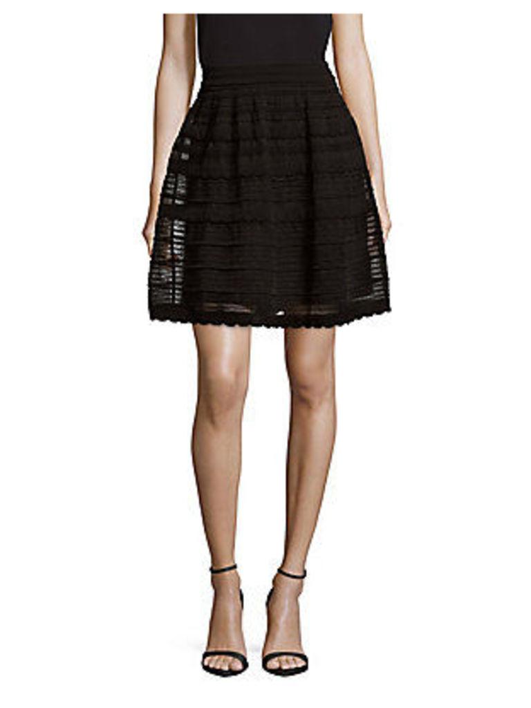 Textured Banded Skirt