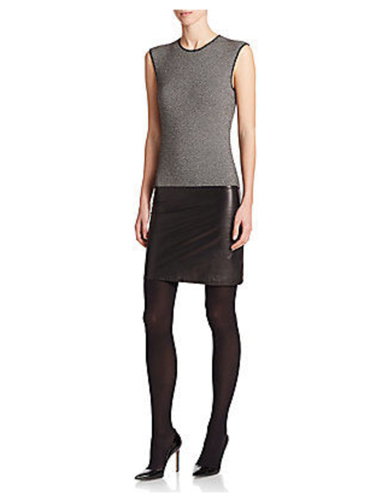 Cashmere & Leather Bodycon Dress