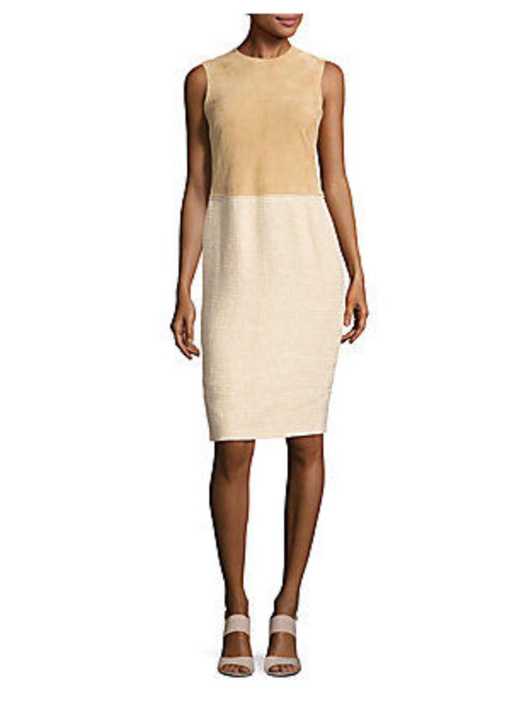 Linen-Blend Sleeveless Dress