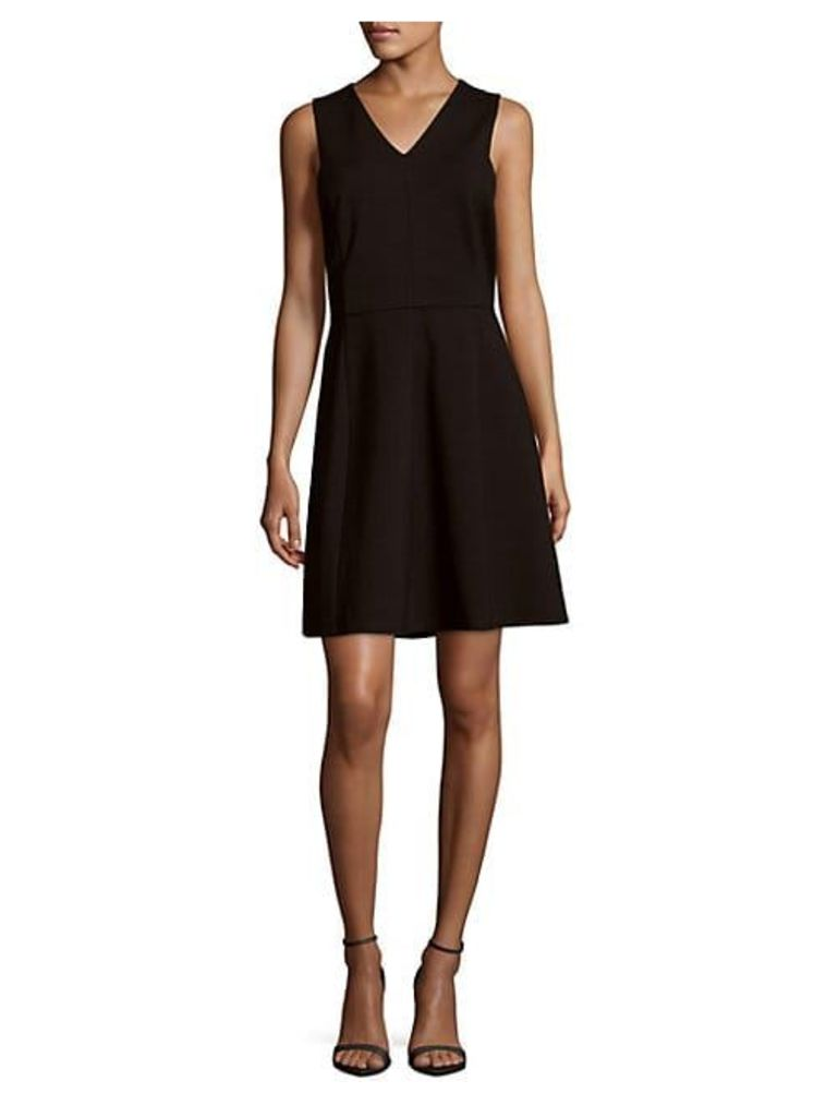 Solid Cutout-Back Dress
