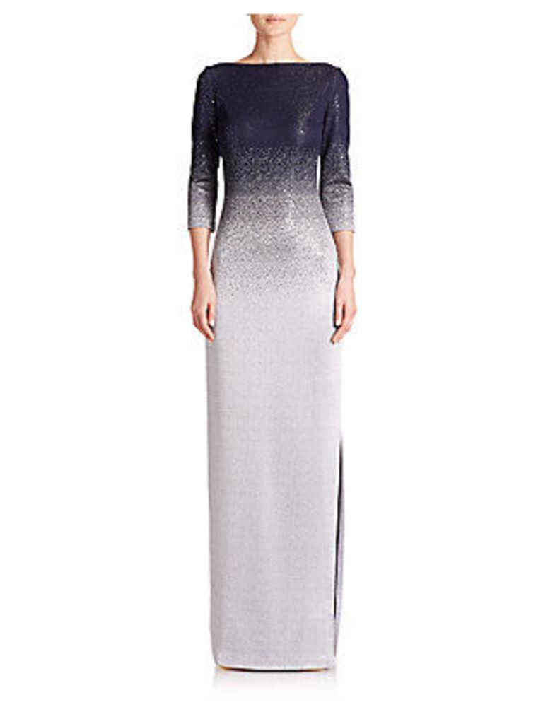 Degradé Shimmer Knit Gown