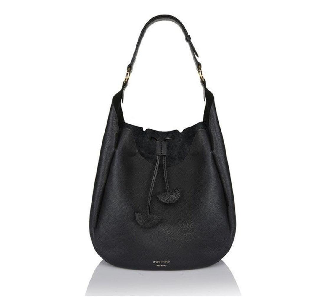 Alba Medium Shoulder Bag Black
