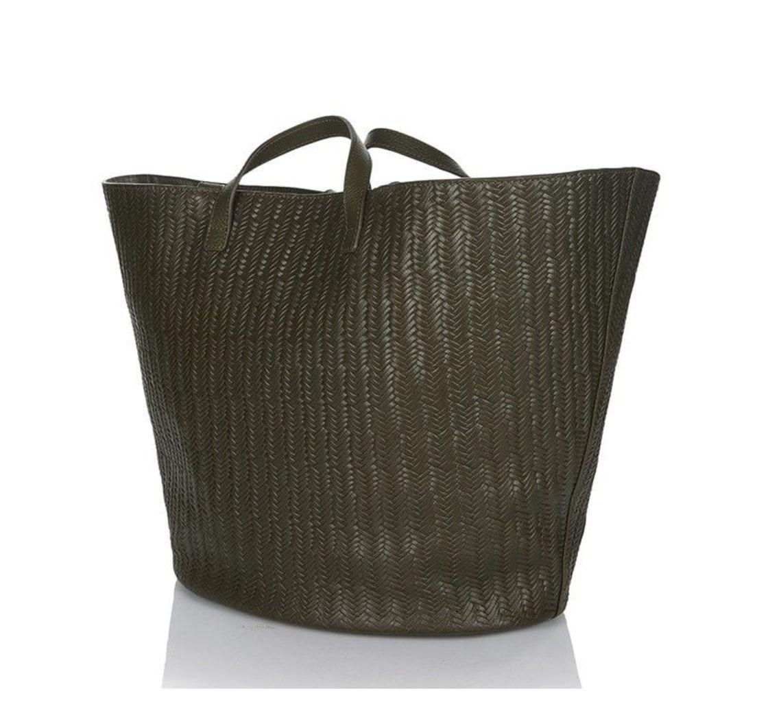 Rosalia Tote Bag Military Woven