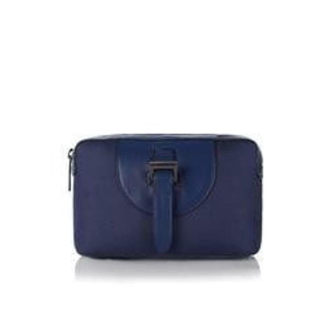 Wash Bag Midnight Blue Nylon Nappa