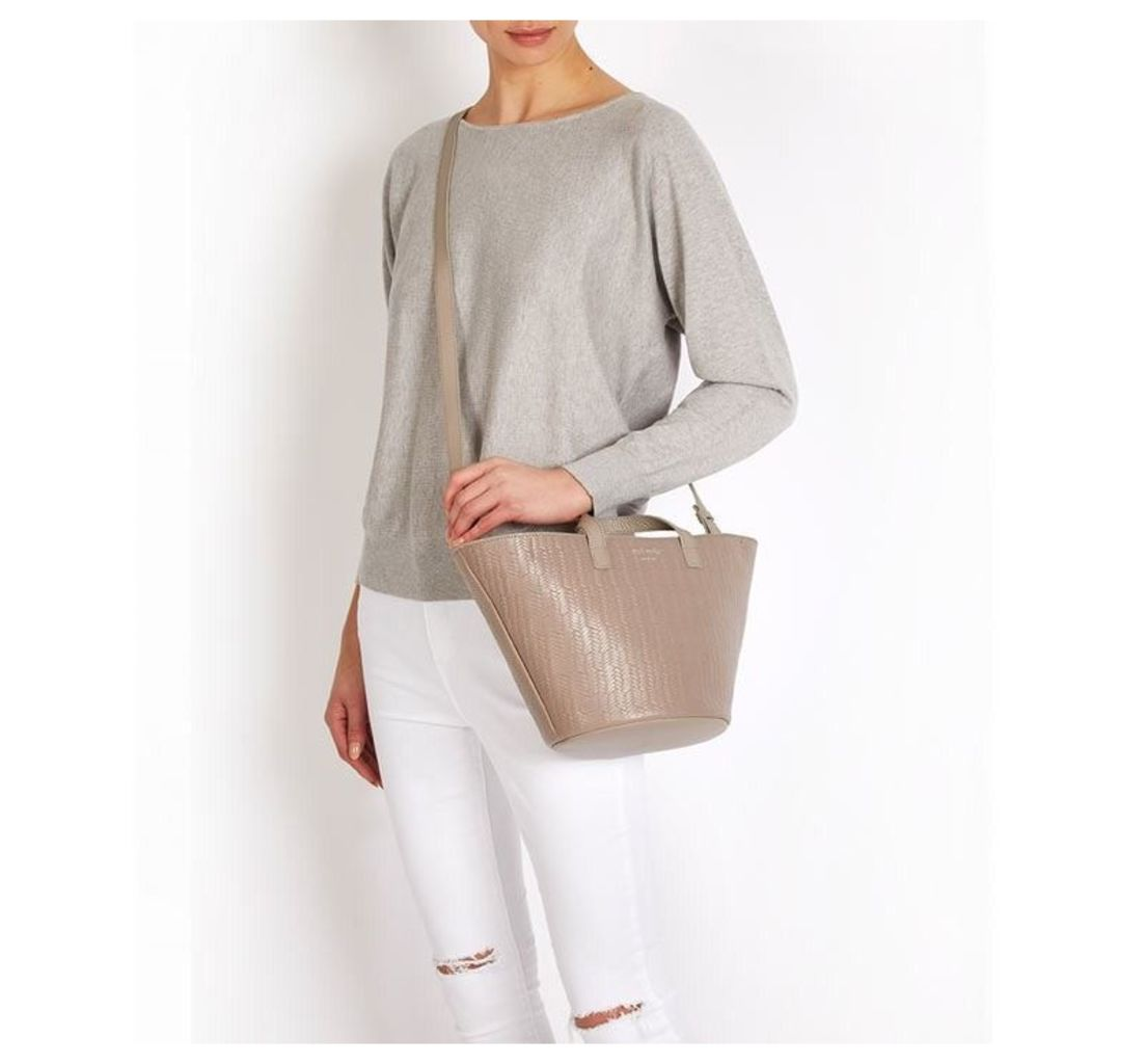 Rosalia Mini Cross Body Bag Taupe Woven