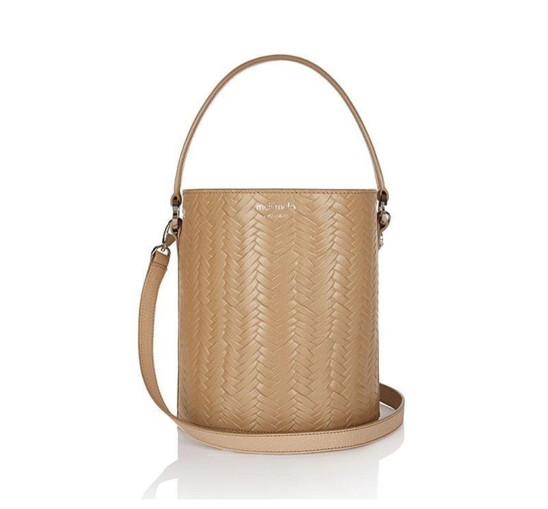 Santina Mini Bucket Bag Sand Large Woven