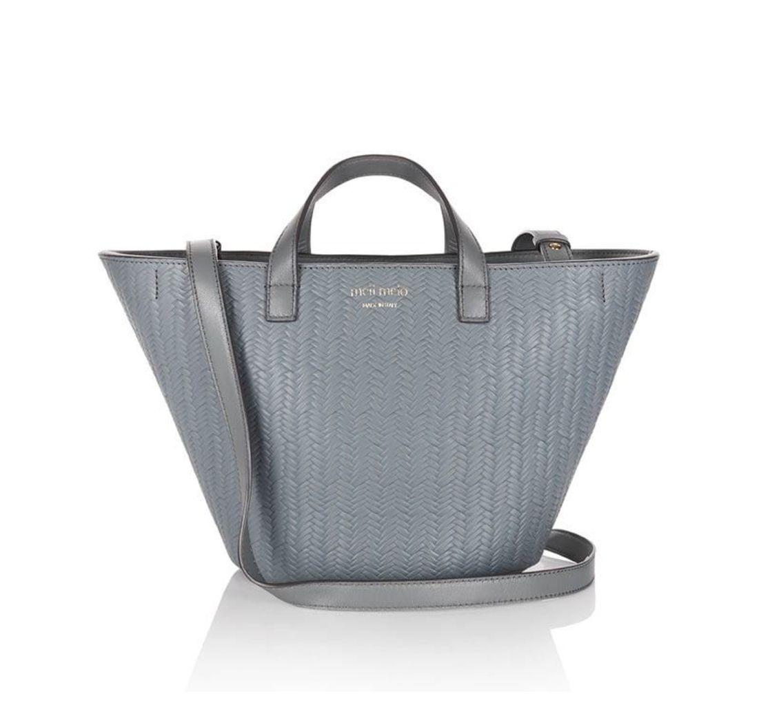 Rosalia Mini Cross Body Bag Blue Heron Woven