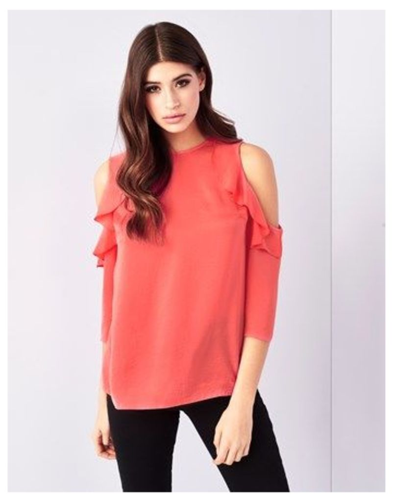Lipsy Cold Shoulder Ruffle Top