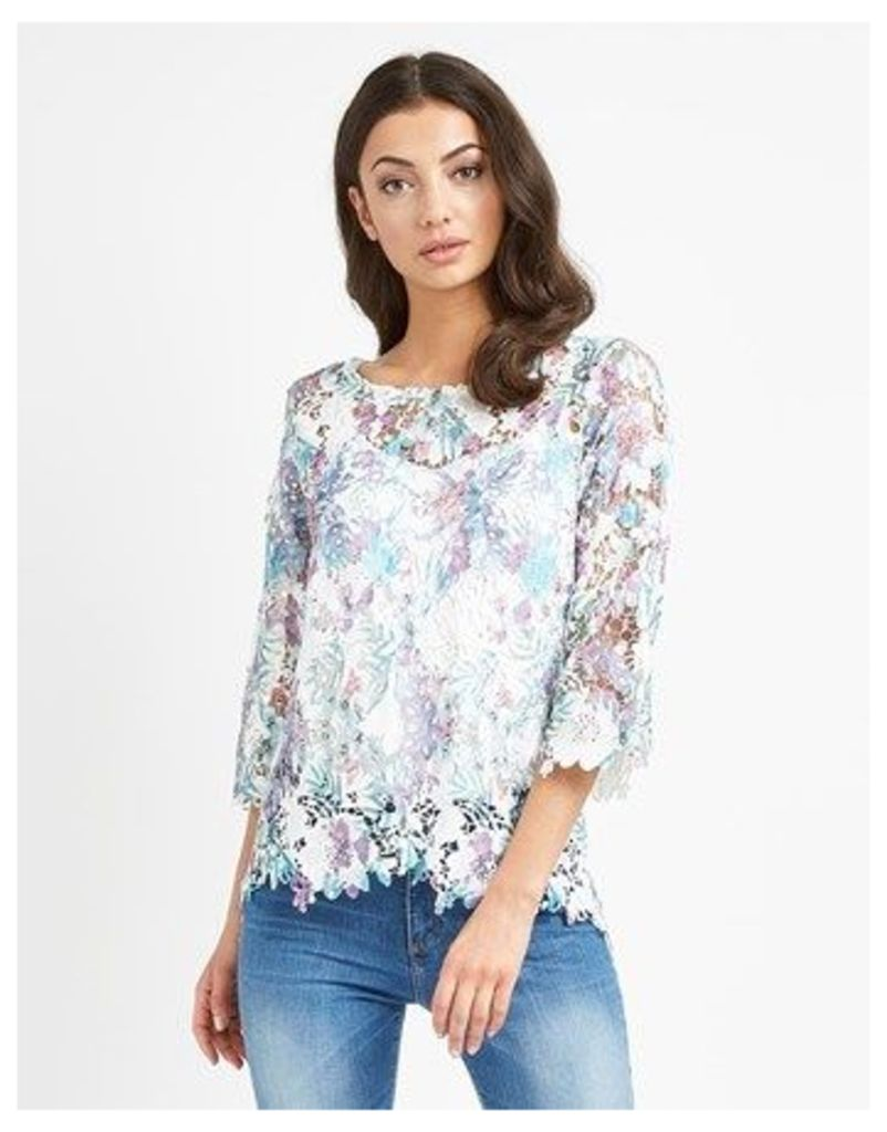 Society 8 Crochet Print Top