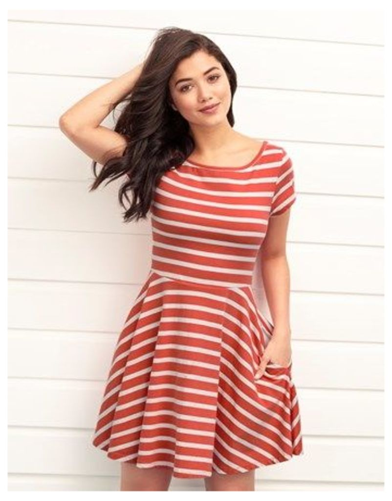Brakeburn Jersey Striped Skater Dress