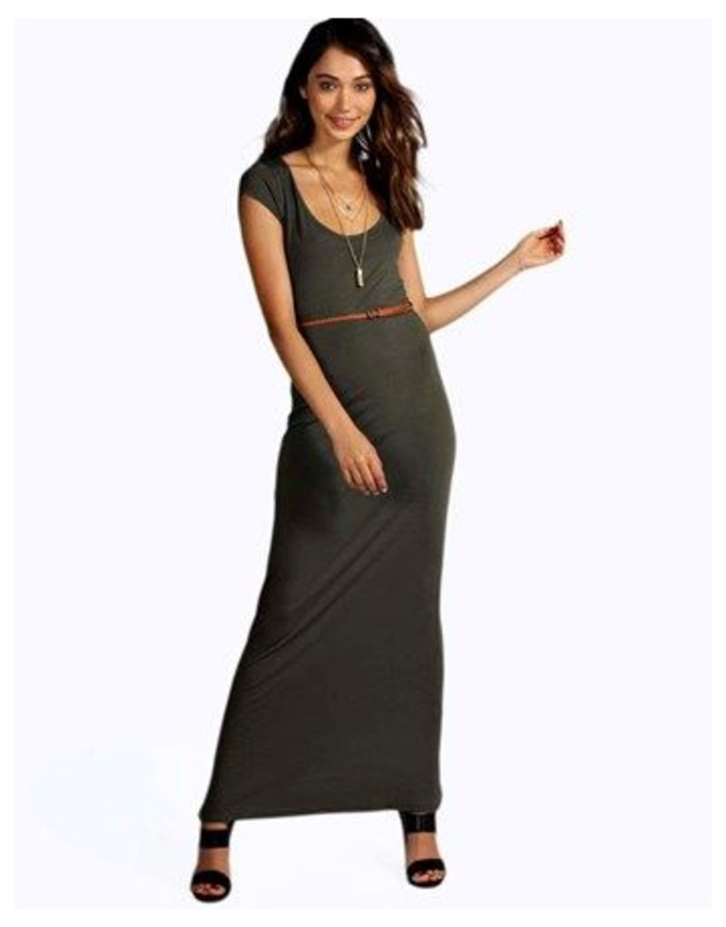 Boohoo Belted Maxi Dress