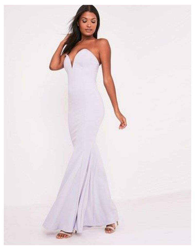 Prettylittlething Sweetheart Fishtail Maxi Dress