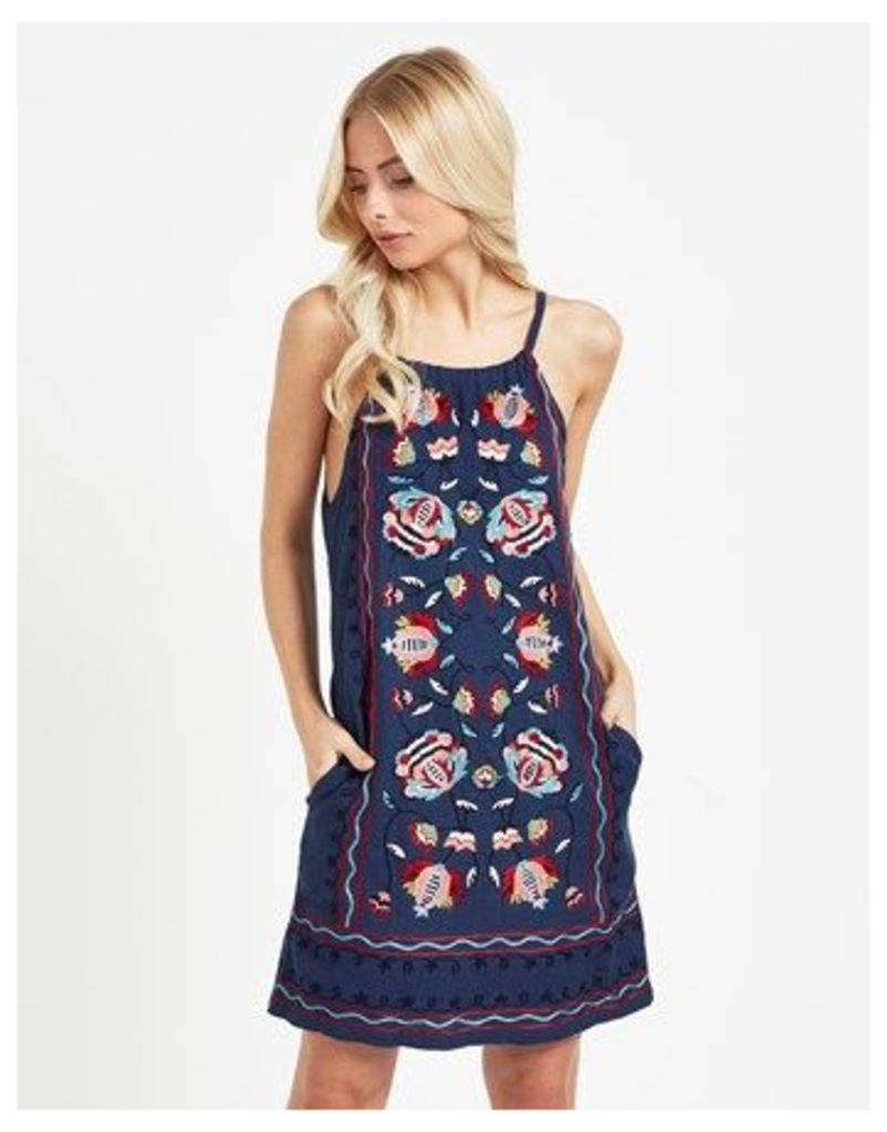 Pepe Jeans Embroidered Floral Day Dress