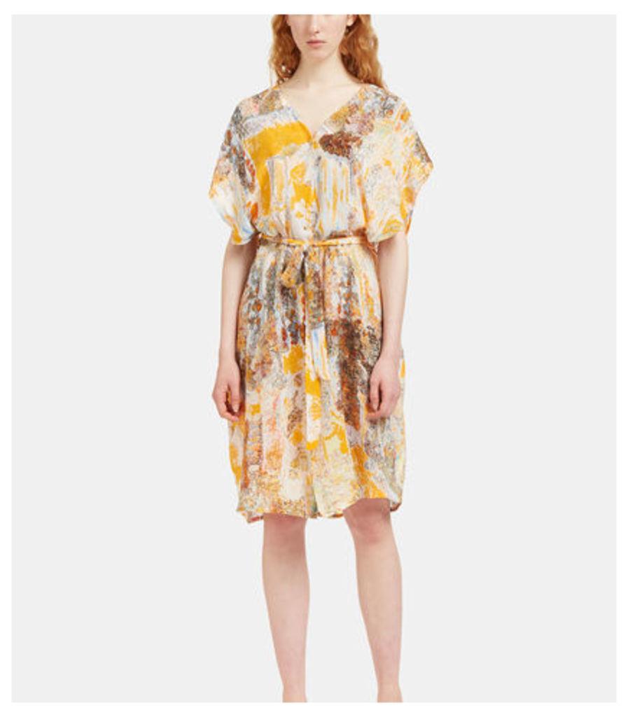 Printed Frilled Dress