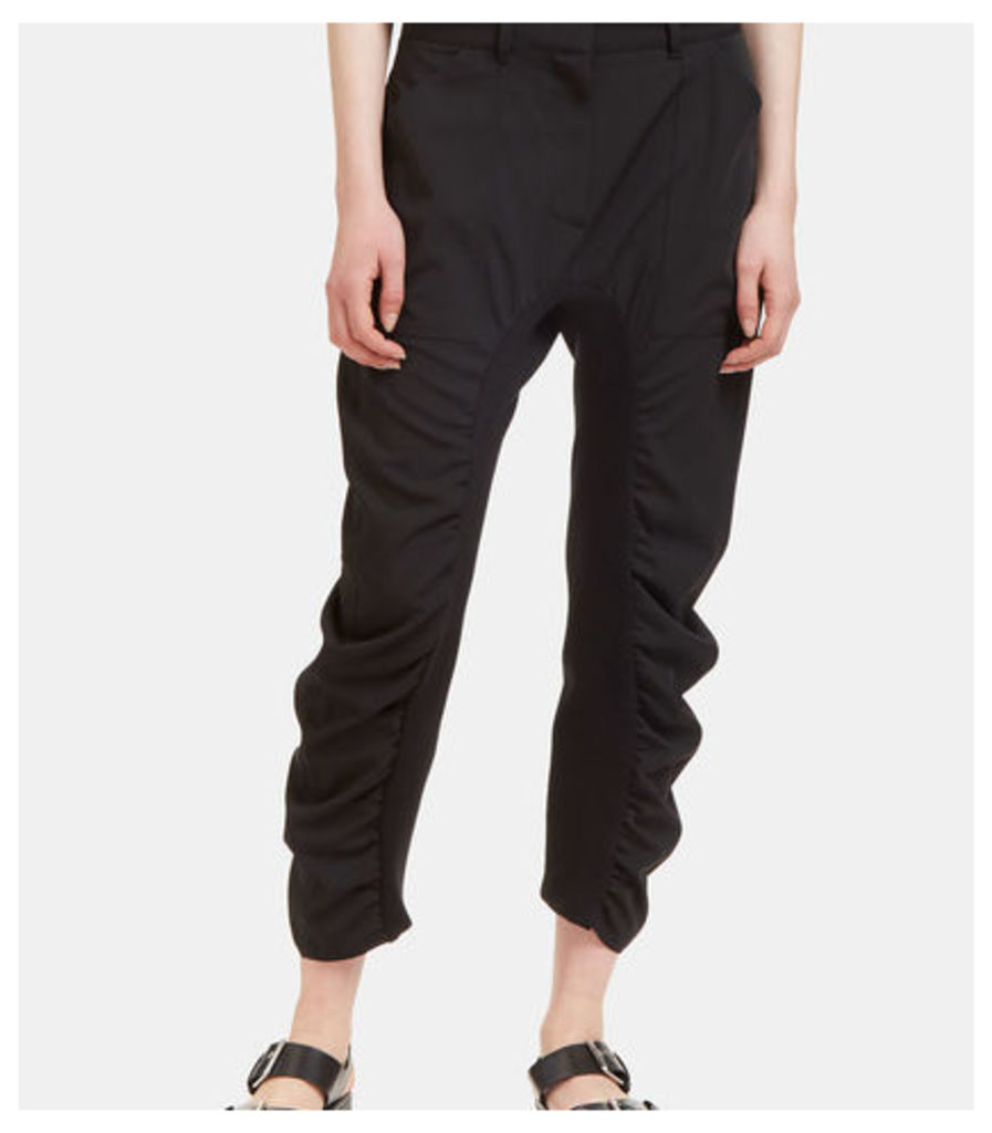 Dropped Crotch Ruched Seam Pants