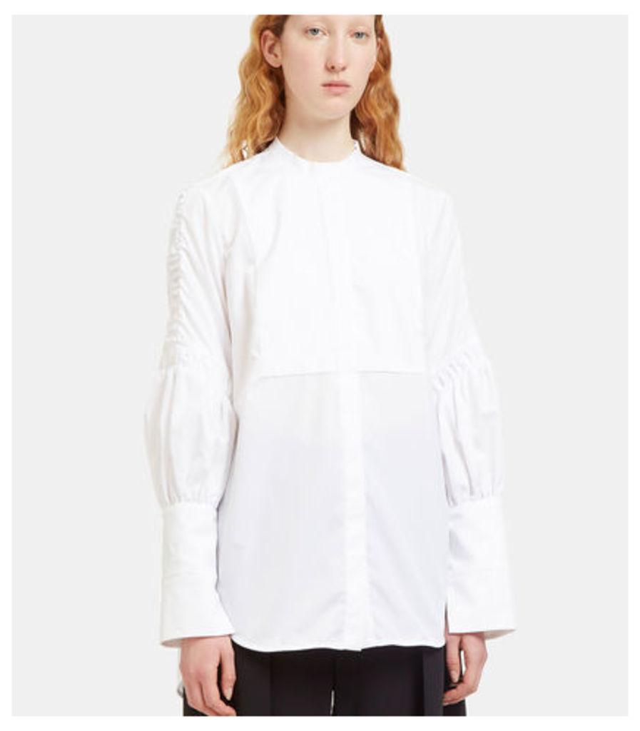 Surreal Ruched Sleeve Bib Shirt