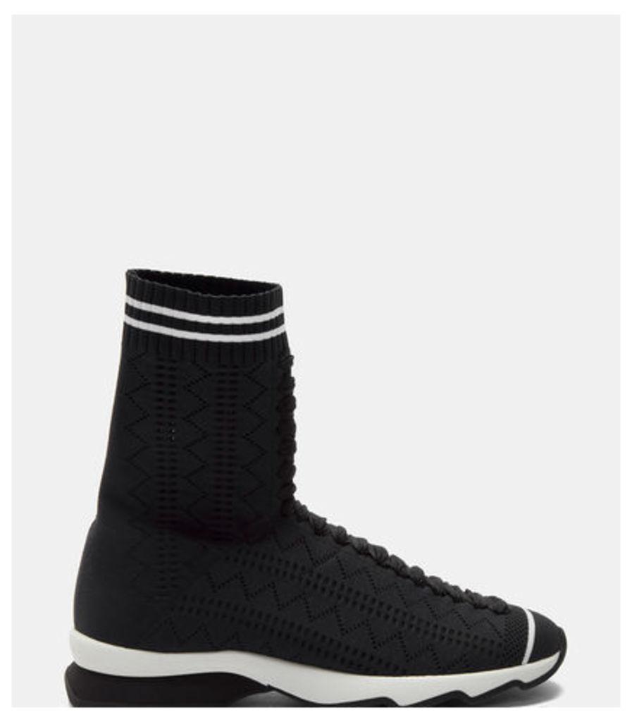 Zigzag Sock Sneaker Boots