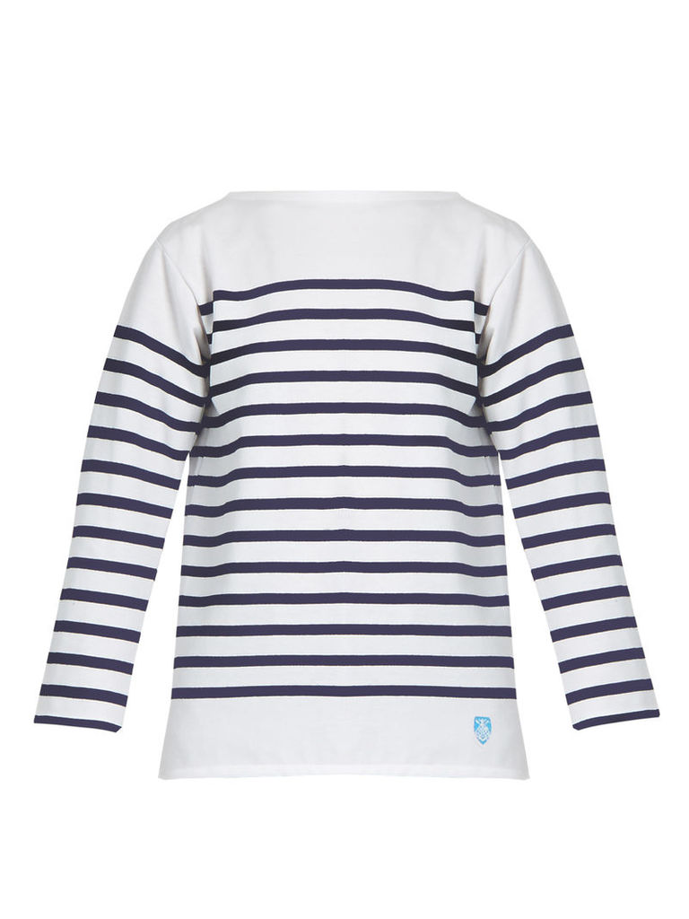 Breton-striped cotton top