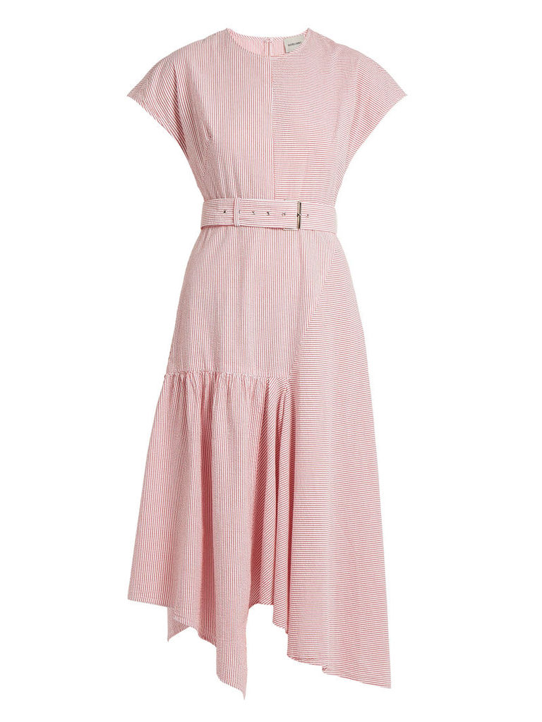 Steady cotton-seersucker dress
