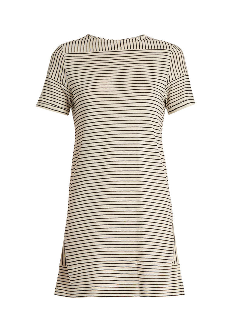 Mauricia striped cotton-blend jersey dress