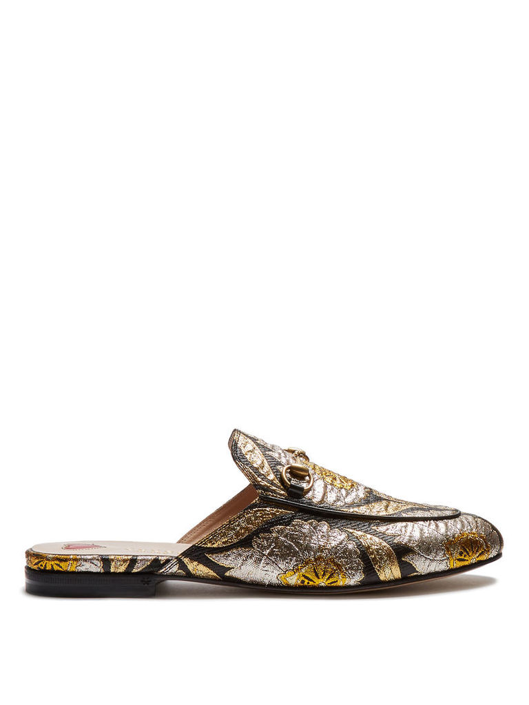 Princetown jacquard backless loafers
