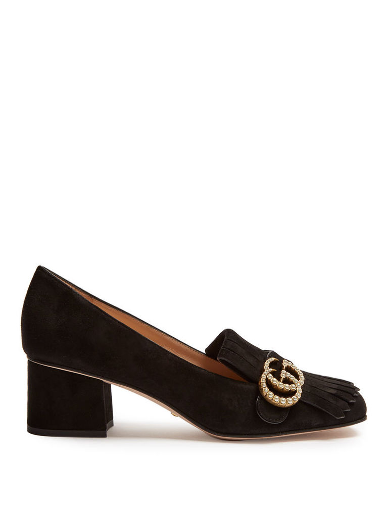 Marmont fringed suede loafers