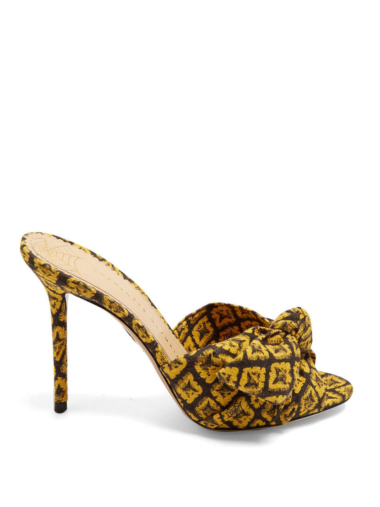 Lola pineapple-print canvas mules