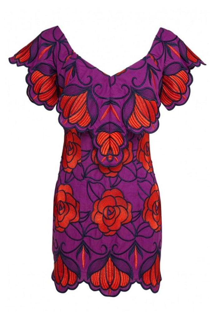 Ms Rose Dress Violet Floral
