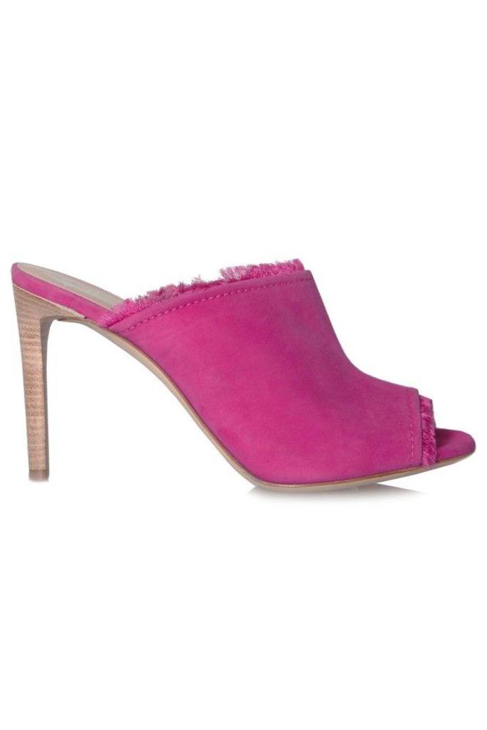 Frayed Stiletto Mules Pink