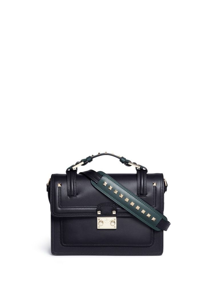 'Cabana' small leather top handle satchel