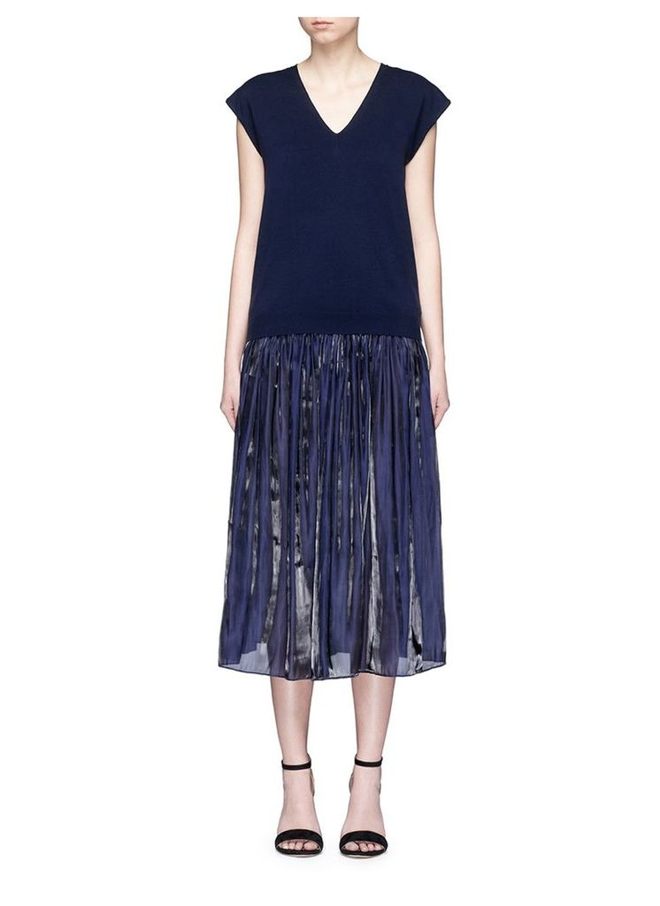 'Arp' knit top and charmeuse dress set