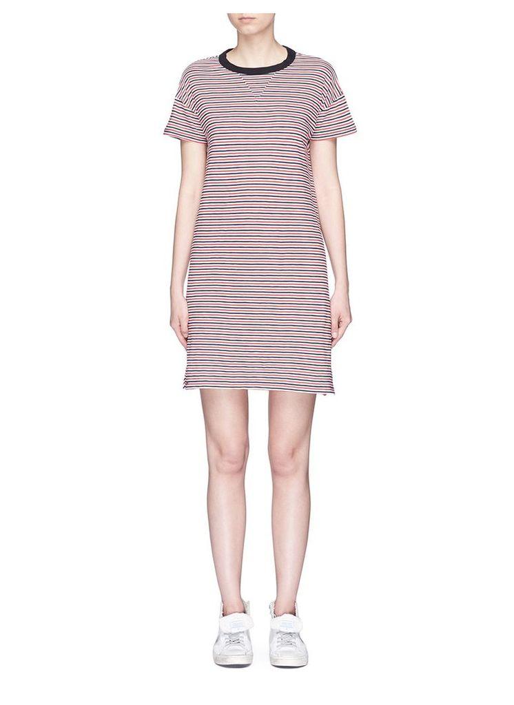 'Racer' stripe jersey dress