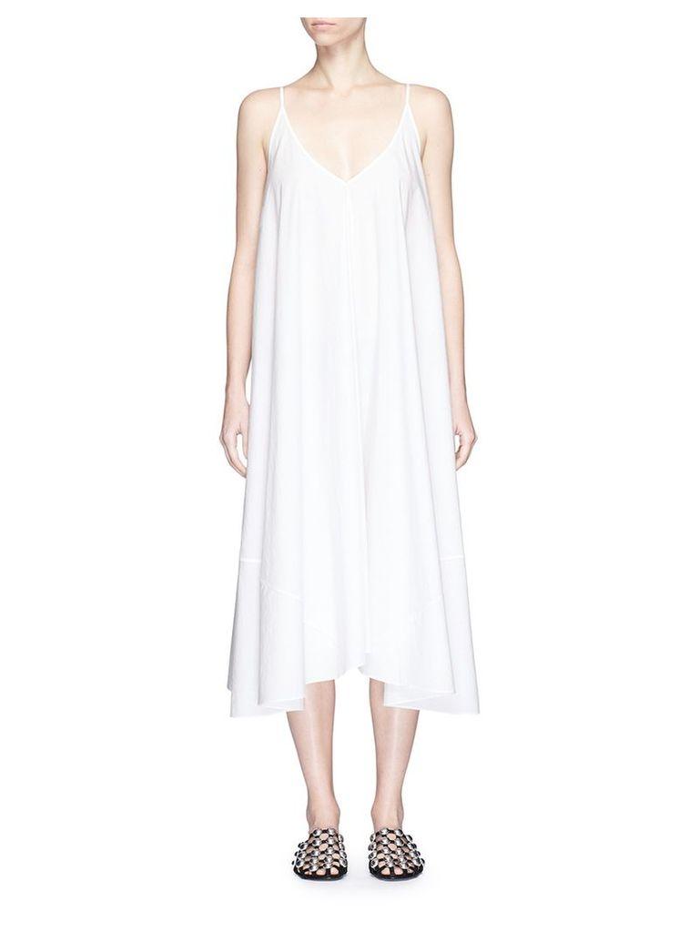 Cotton poplin trapeze dress